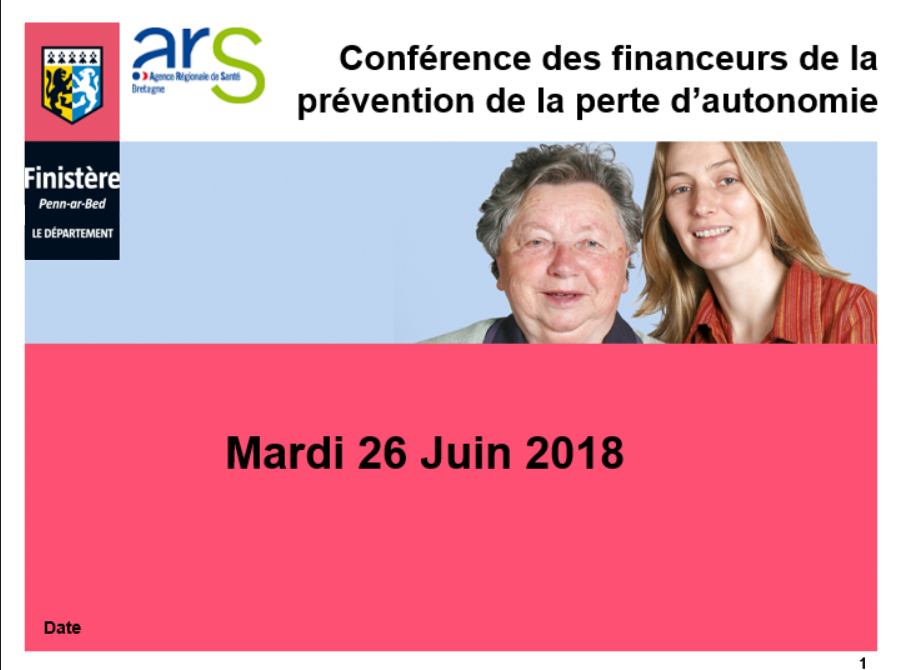 Conférence des financeurs pour l'autonomie