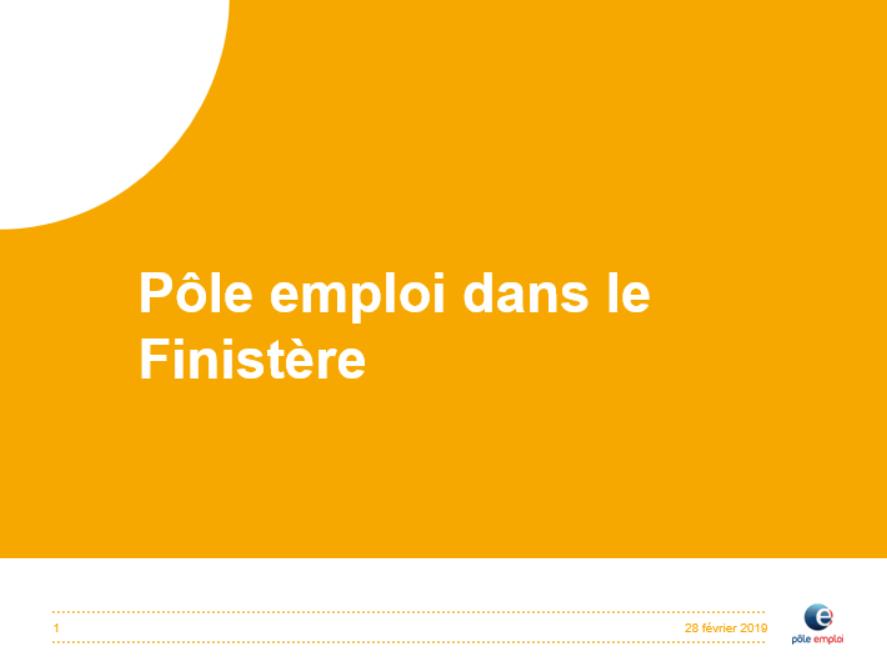 Présentation Pole emploi dans le Finistère